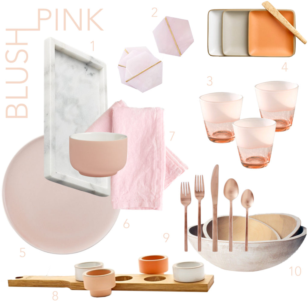 Blush Pink Outdoor Dining Grid